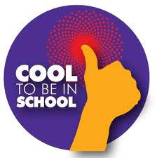 Hand with thumbs up - cool to be in school